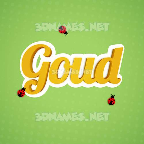 Ladybugs 3D Name for goud