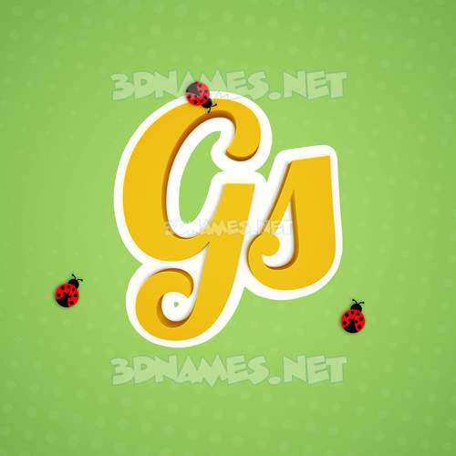 Ladybugs 3D Name for gs