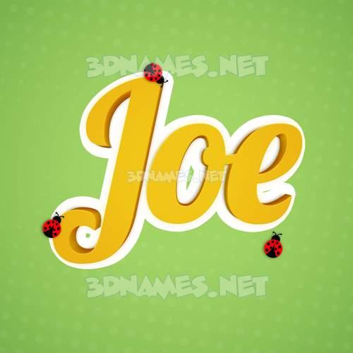 Ladybugs 3D Name for joe