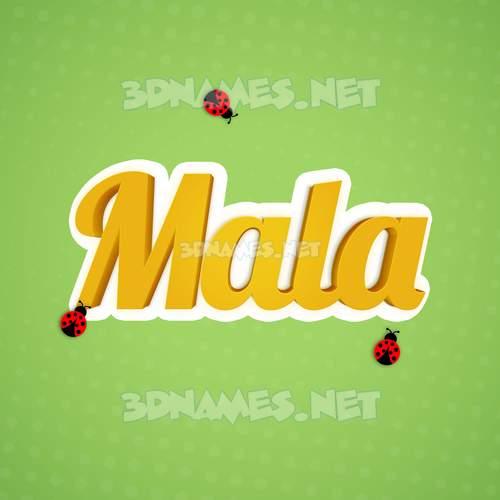 Ladybugs 3D Name for mala