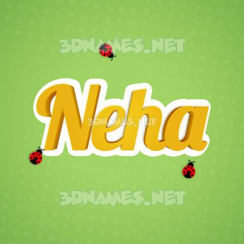 Ladybugs 3D Name for neha