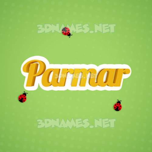 Ladybugs 3D Name for parmar