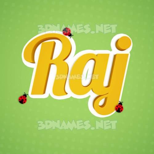 Ladybugs 3D Name for raj