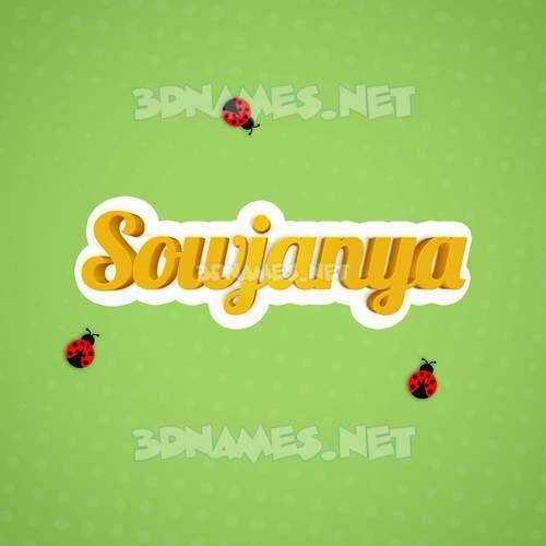 Ladybugs 3D Name for sowjanya