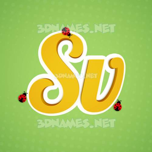 Ladybugs 3D Name for sv