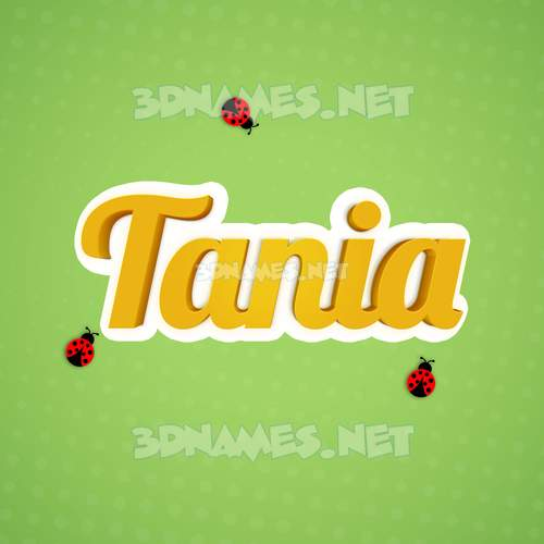 Ladybugs 3D Name for tania