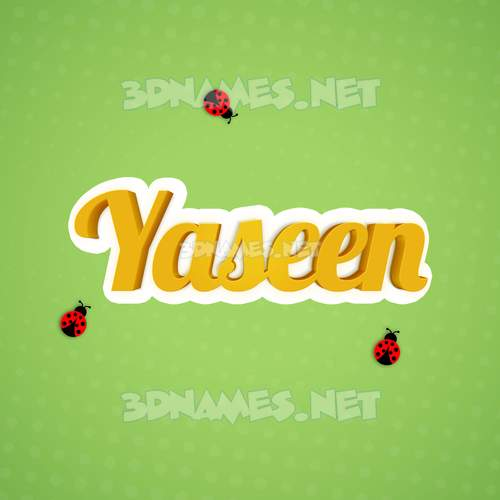 Ladybugs 3D Name for yaseen