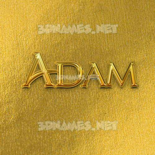 All Gold 3D Name for adam