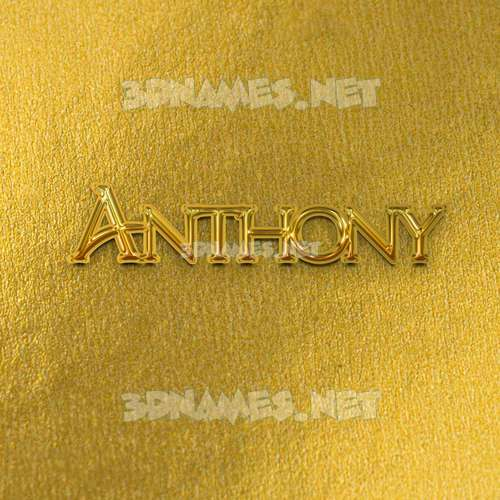 All Gold 3D Name for anthony