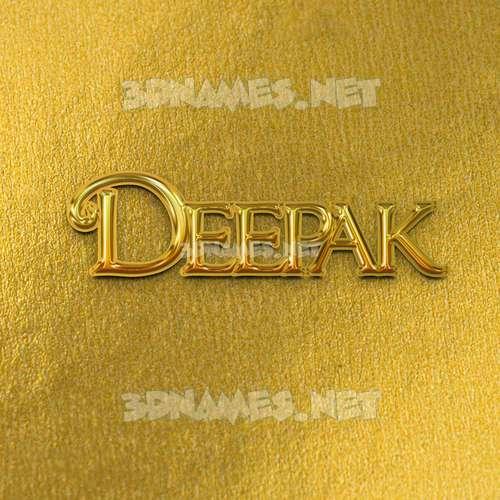 All Gold 3D Name for deepak