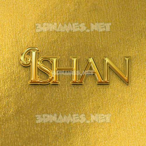 All Gold 3D Name for ishan