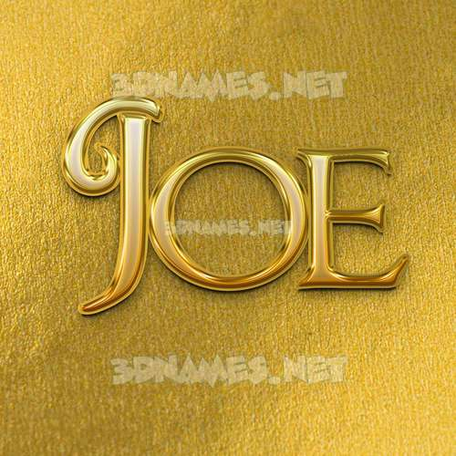 All Gold 3D Name for joe
