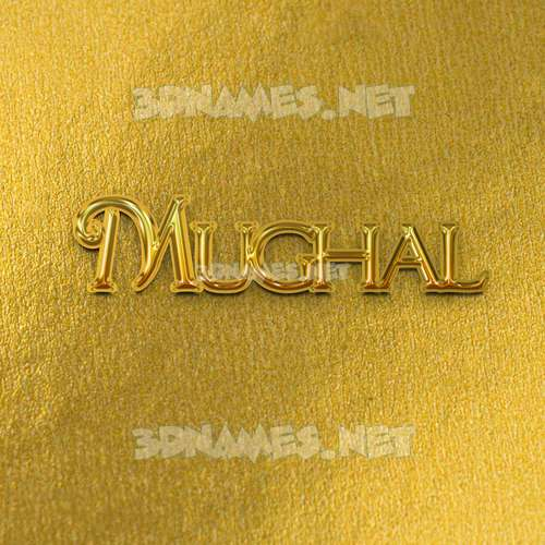 All Gold 3D Name for mughal