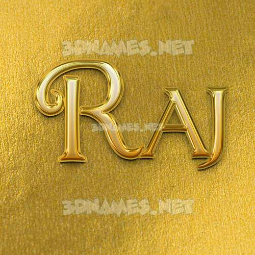 All Gold 3D Name for raj