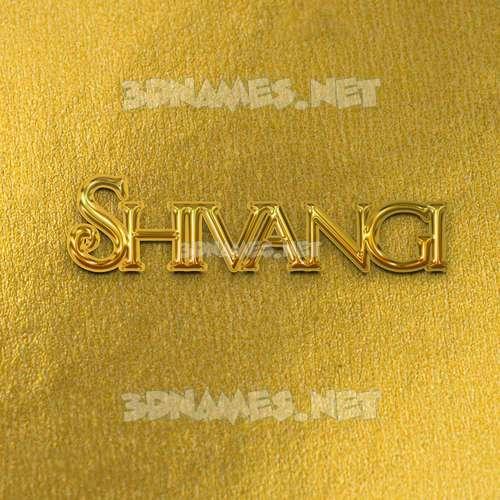 All Gold 3D Name for shivangi