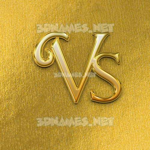 All Gold 3D Name for vs