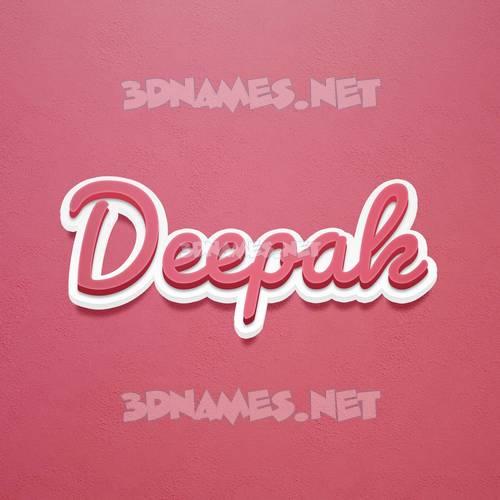 Red Scribble 3D Name for deepak