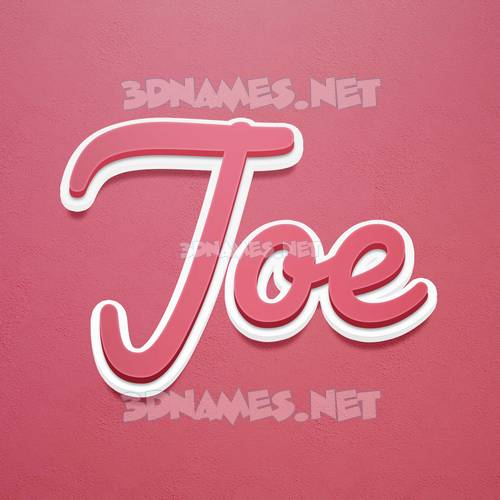 Red Scribble 3D Name for joe