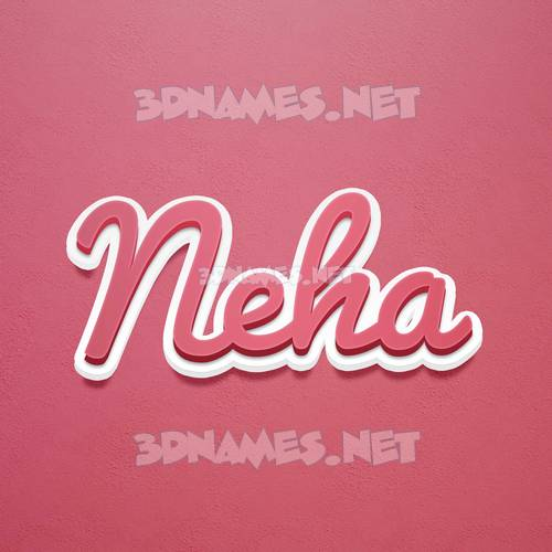 Red Scribble 3D Name for neha