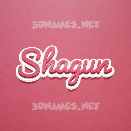 Red Scribble 3D Name for shagun