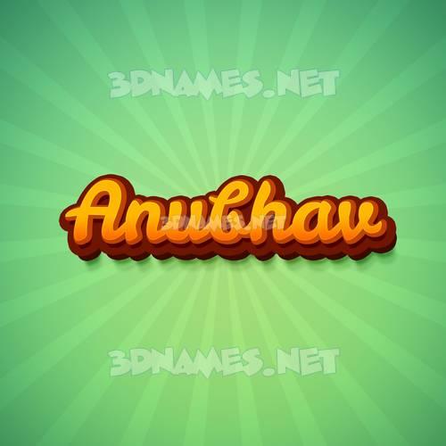 Green Rays 3D Name for anubhav