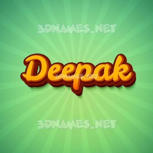 Green Rays 3D Name for deepak