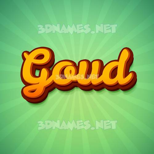 Green Rays 3D Name for goud