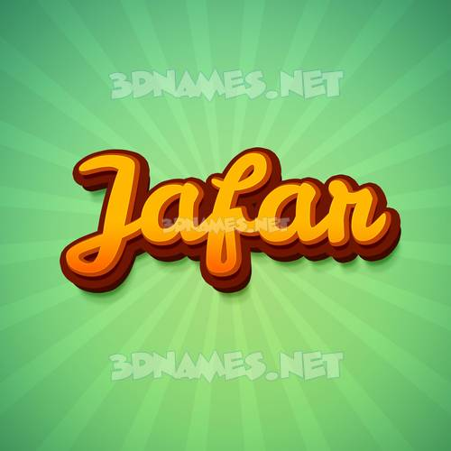 Green Rays 3D Name for jafar