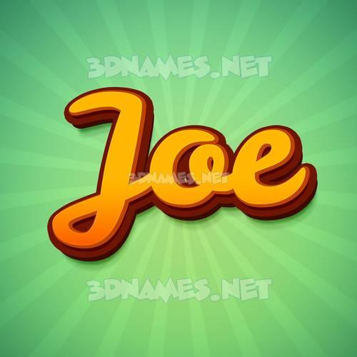 Green Rays 3D Name for joe