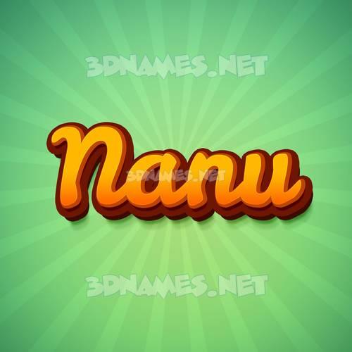 Green Rays 3D Name for nanu
