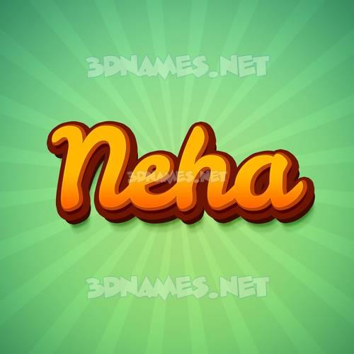 Green Rays 3D Name for neha