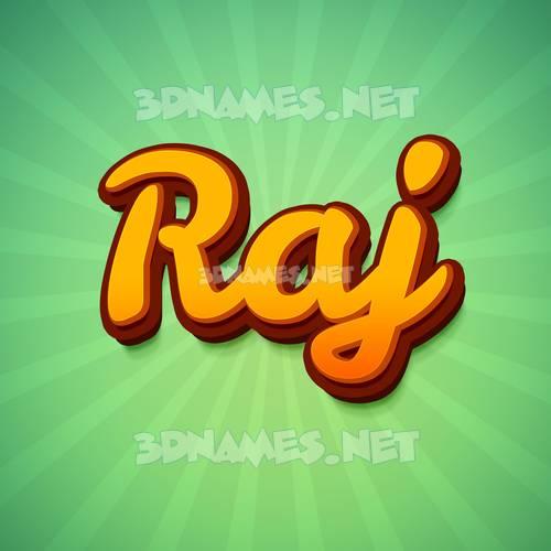 Green Rays 3D Name for raj