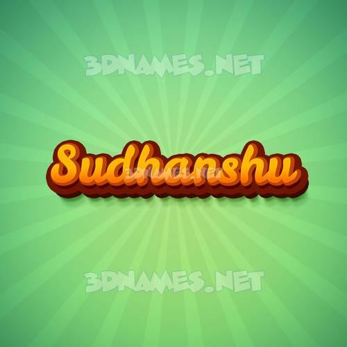 Green Rays 3D Name for sudhanshu