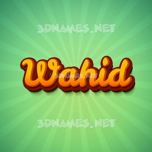 Green Rays 3D Name for wahid