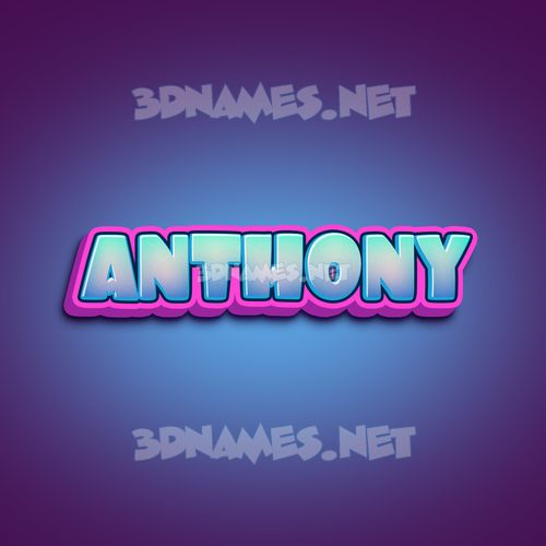 Phat Purple 3D Name for anthony