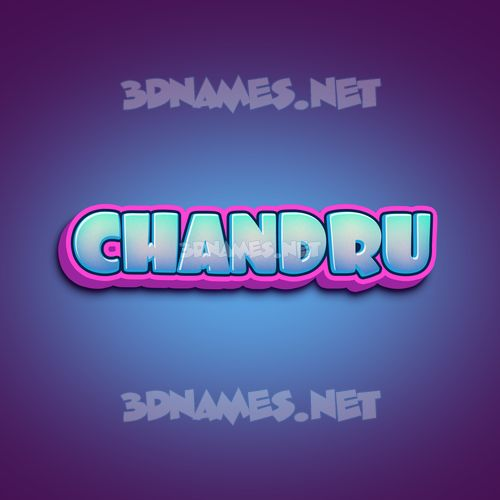 Phat Purple 3D Name for chandru