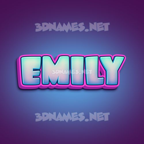 Phat Purple 3D Name for emily