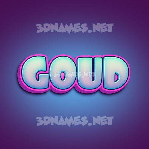 Phat Purple 3D Name for goud