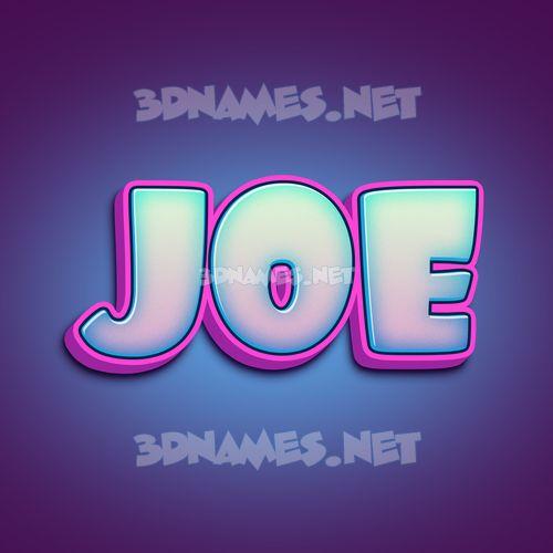 Phat Purple 3D Name for joe