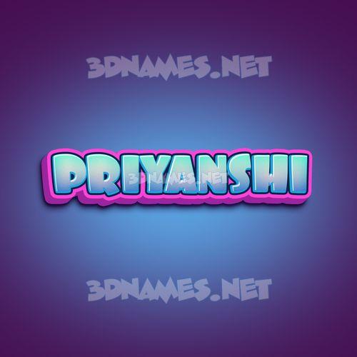 Phat Purple 3D Name for priyanshi