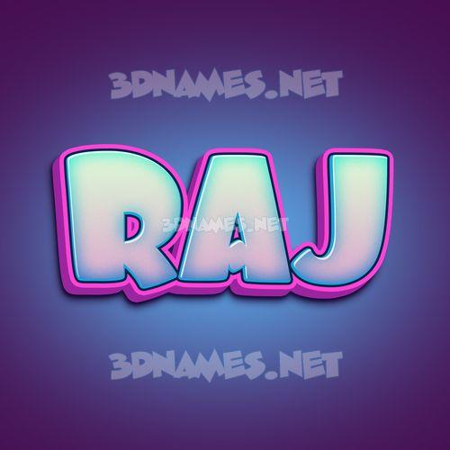 Phat Purple 3D Name for raj