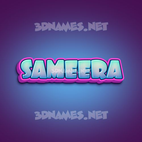 Phat Purple 3D Name for sameera