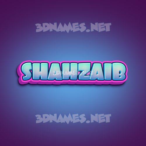 Phat Purple 3D Name for shahzaib
