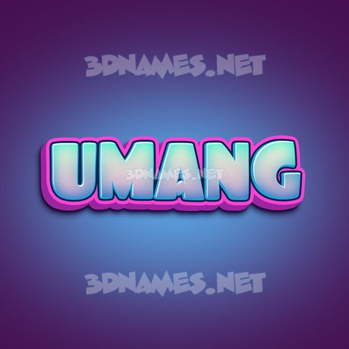 Phat Purple 3D Name for umang