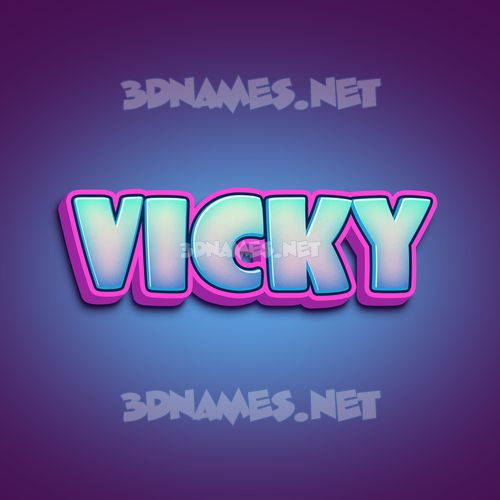 Phat Purple 3D Name for vicky
