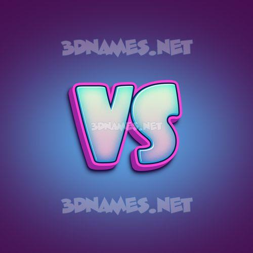 Phat Purple 3D Name for vs