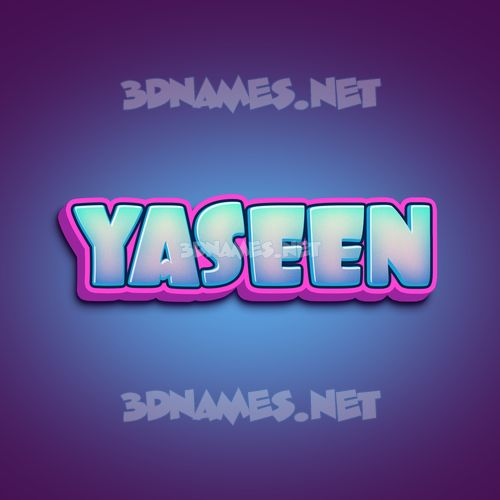 Phat Purple 3D Name for yaseen