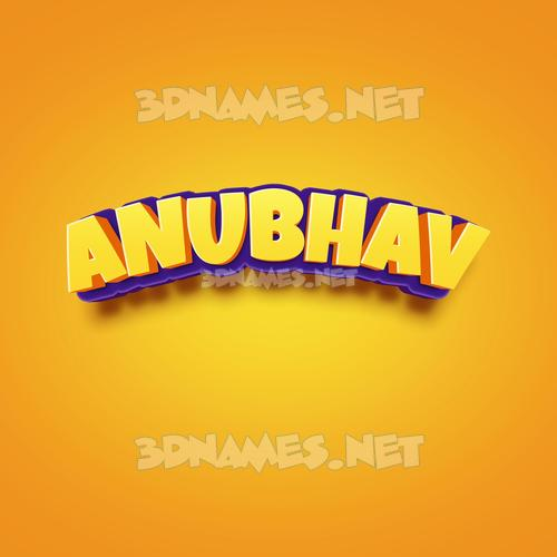 Orange Toon 3D Name for anubhav