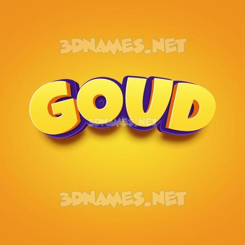 Orange Toon 3D Name for goud