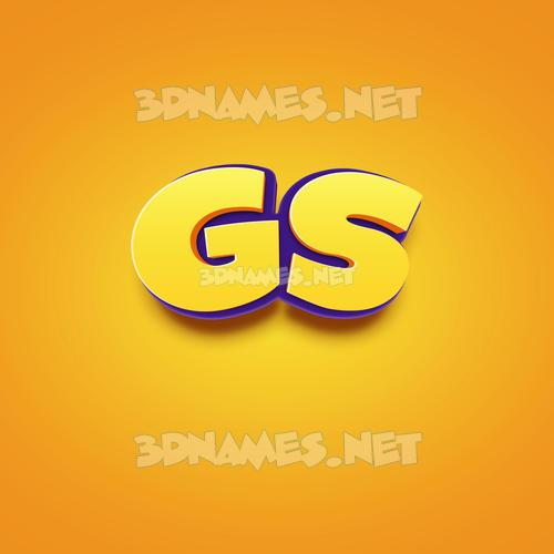 Orange Toon 3D Name for gs